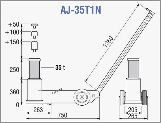Lufthydraulischer Heber 35 T 35 t TDL AJ-35T1N Kunzer lufthydraulischer Heber 35 T