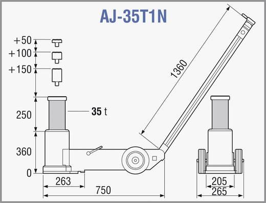 Lufthydraulischer Heber 35 T 35 t TDL AJ-35T1N