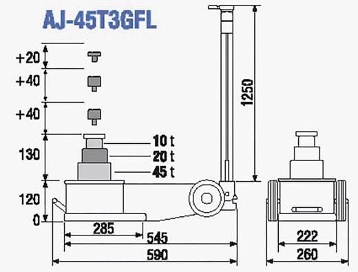 Lufthydraulischer Heber 45/20/10T 45 t TDL AJ-45T3GFL TDL lufthydraulischer Heber 45/20/10T