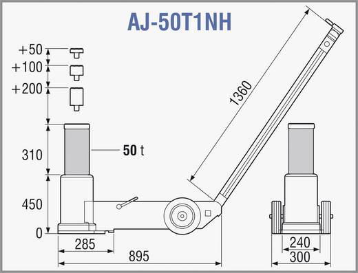 Lufthydraulischer Heber 50 T 50 t TDL AJ-50T1NH Kunzer lufthydraulischer Heber 50 T