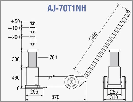 Lufthydraulischer Heber 70 T 70 t TDL AJ-70T1NH