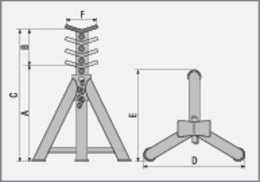 Unterstellbock 16 T 290 mm 290 mm 455 mm 16 t Kunzer AB 16-290 Unterstellbock 16 T 290 mm
