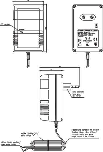 Ansmann ALCS 2-24 9164015-510 Steckerlader 2 V, 6 V, 12 V, 24 V