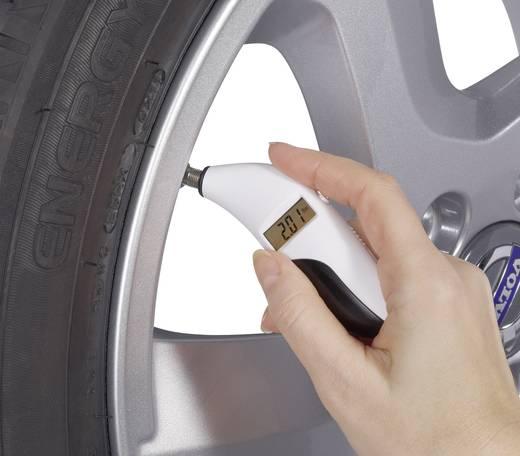 Basetech Reifendruckprüfer / Profiltiefe Messgerät 0,2 bis 9,99 bar bzw. 3 bis 144,9 psi 0 bis 15 mm bzw. 0 bis 0,59 inc