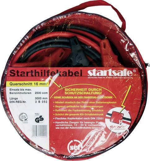 Starthilfekabel 16 mm² Kupfer 3 m SKS16 mit Kunststoffzangen, mit Schutzschaltung Kupfer SET®