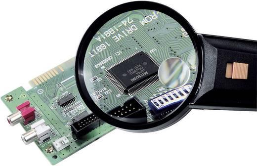 Handlupe mit LED-Beleuchtung Vergrößerungsfaktor: 2 x, 4 x Linsengröße: (Ø) 75 mm TOOLCRAFT 821031