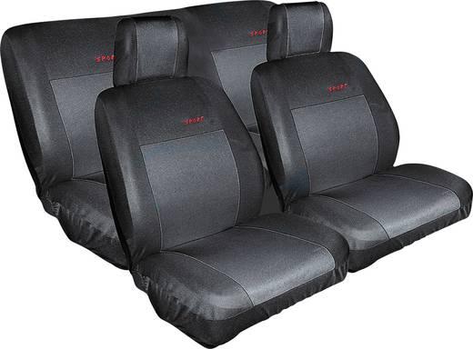 Eufab 28059 Sitzbezug Baumwolle, Polyester Schwarz Rücksitz, Fahrersitz, Beifahrersitz