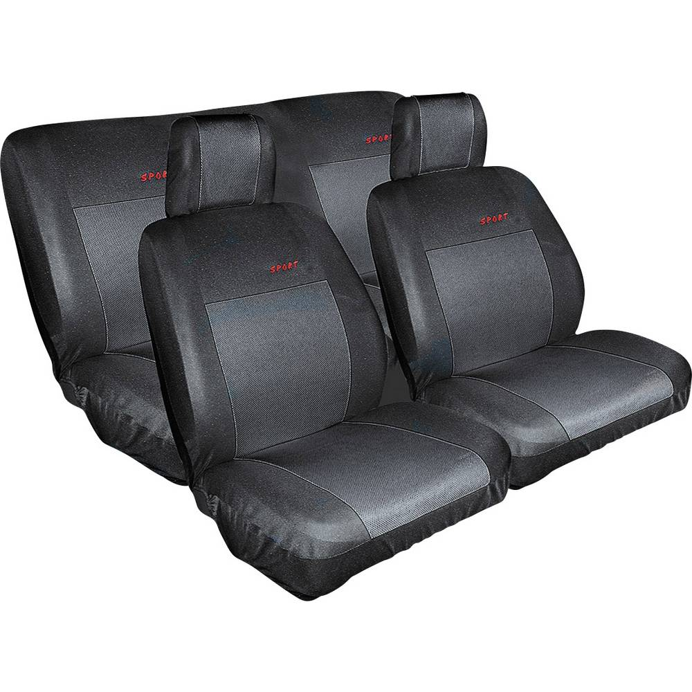 housse de si ge eufab 28059 coton polyester noir si ge arri re si ge conducteur si ge. Black Bedroom Furniture Sets. Home Design Ideas