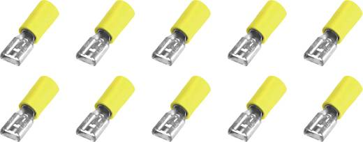 Flachsteckhülse Steckbreite: 6.3 mm Steckdicke: 0.8 mm 180 ° Teilisoliert Gelb 323008 10 St.