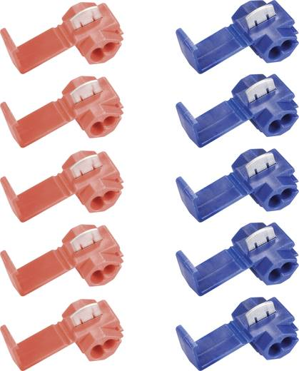 Klemmverbinder-Set 10tlg rot 0,5 bis 1,5 mm²blau 1,5 bis 2,5 mm² Pole=1