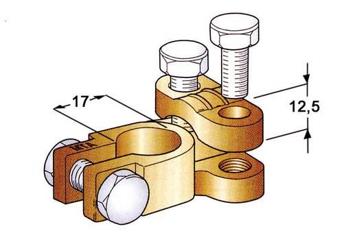 Batterie-Polklemme Gerade/Minus (B x H x T) 38 x 20 x 52 mm