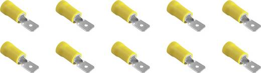 Flachstecker Steckbreite: 6.3 mm Steckdicke: 0.8 mm Teilisoliert Gelb 323011 10 St.
