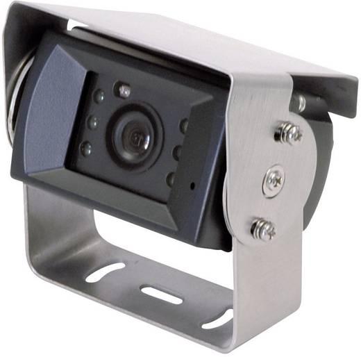 Kabel-Rückfahrkamera Camos integriertes Mikrofon, integrierte Heizung, IR-Zusatzlicht, Blendenautomatik, Automatischer Weißabgleich Schraubmontage Schwarz