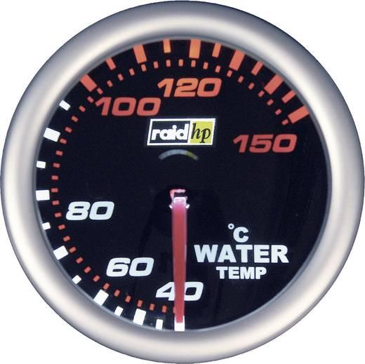Kfz Einbauinstrument Wassertemperaturanzeige Messbereich 40 - 150 °C raid hp 660244 NightFlight Weiß, Rot 52 mm