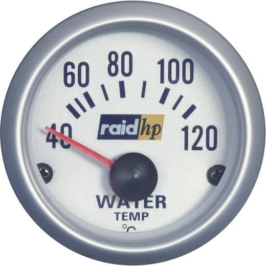 raid hp 660220 Kfz Einbauinstrument Wassertemperaturanzeige Messbereich 40 - 120 °C Silber-Serie Blau-Weiß 52 mm