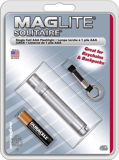 Krypton Mini-Taschenlampe mit Schlüsselanhänger Mag-Lite Schlüsselanhängerleuchte Solitaire batteriebetrieben 24 g Titan-Grau