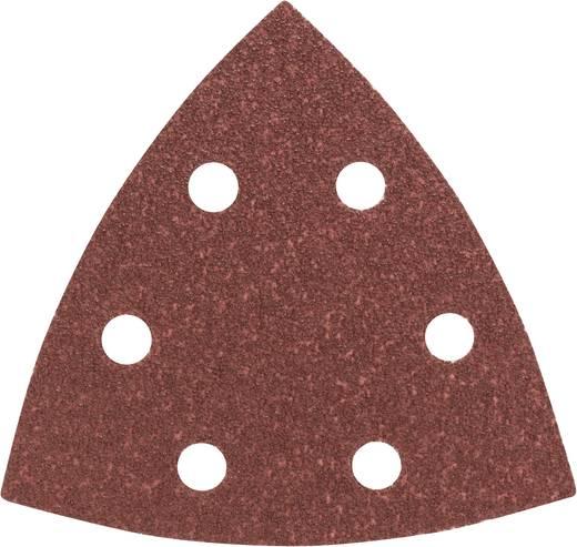 Deltaschleifpapier mit Klett, gelocht Körnung 80 Eckmaß 93 mm Bosch 2608605601 5 St.