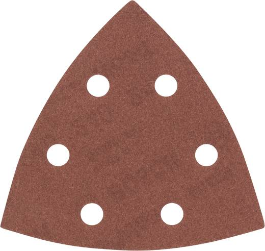 Bosch Accessories 2608605604 Deltaschleifpapier mit Klett, gelocht Körnung 240 Eckmaß 93 mm 5 St.