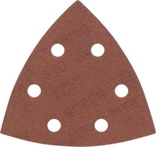 Deltaschleifpapier mit Klett, gelocht Körnung 240 Eckmaß 93 mm Bosch Accessories 2608605604 5 St.