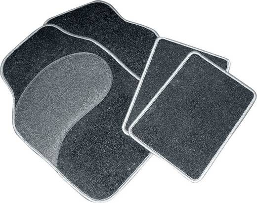 Fußmatte (universell) Universal Textil Schwarz, Grau Eufab 28025