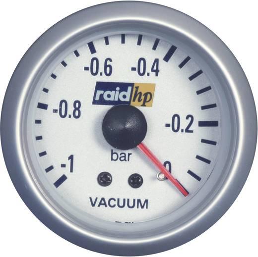 Kfz Einbauinstrument Vakuummeter Messbereich -1 - 0 bar raid hp 660222 Silber-Serie Blau-Weiß 52 mm