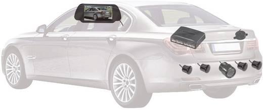 Funk-Rückfahrvideosystem SB885-4-T35 Abstandshilfslinien, IR-Zusatzlicht, Im Rückspiegel integriert Aufbau
