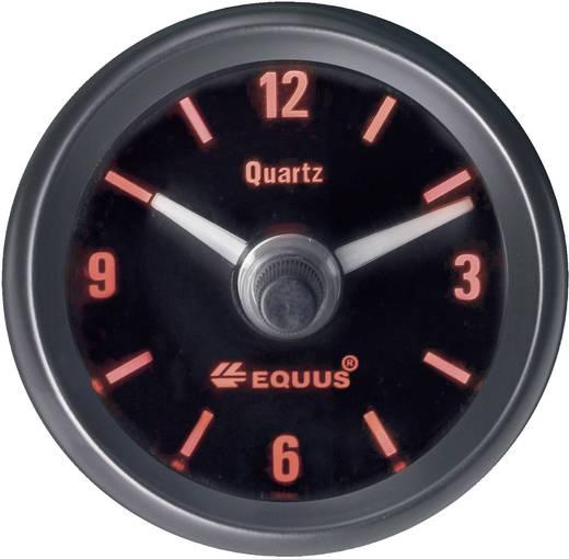 Kfz Einbauinstrument Quarz-Uhr analog Equus 656789 4 LEDs Blau, Grün, Gelb, Rot 52 mm