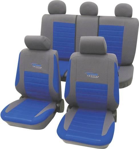 cartrend 60120 Active Sitzbezug 11teilig Polyester Blau Fahrersitz, Beifahrersitz, Rücksitz
