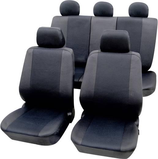 Petex 26174802 Sydney Sitzbezug 11teilig Polyester Graphit Fahrersitz, Beifahrersitz, Rücksitz