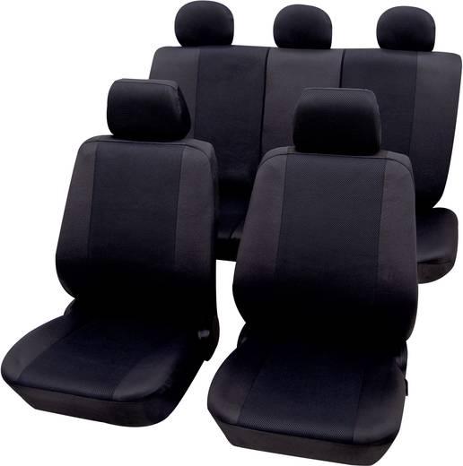 Petex 26174804 Sydney Sitzbezug 11teilig Polyester Schwarz Fahrersitz, Beifahrersitz, Rücksitz
