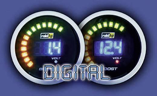 Kfz Einbauinstrument Öltemperaturanzeige Messbereich 40 - 150 °C raid hp 660503 NightFlight Digital Blue Blau, Weiß 52