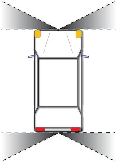 Kabel-Frontkamera CM-45P Camos Prismenkamera Aufbau Schwarz