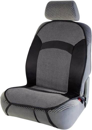 cartrend Beheizbare Sitzauflage 12 V 2 Heizstufen Schwarz, Grau