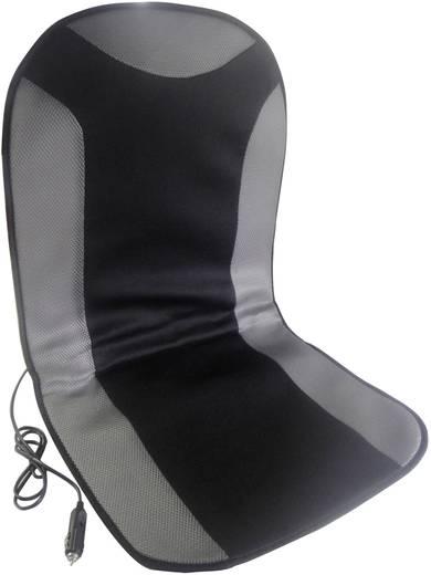 cartrend Beheizbare Sitzauflage 12 V 1 Heizstufe Schwarz, Grau