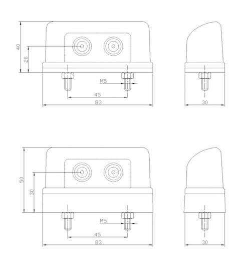 LED Kennzeichenleuchte Kennzeichenleuchte hinten 12 V SecoRüt