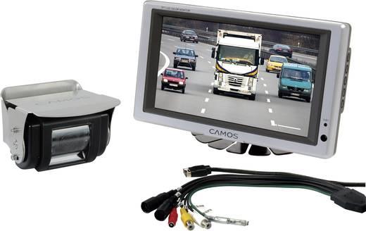 Kabel-Rückfahrvideosystem RV 754 Camos IR-Zusatzlicht, integriertes Mikrofon, integrierte Heizung, 2 Kamera-Eingänge, schwenkbar Aufbau