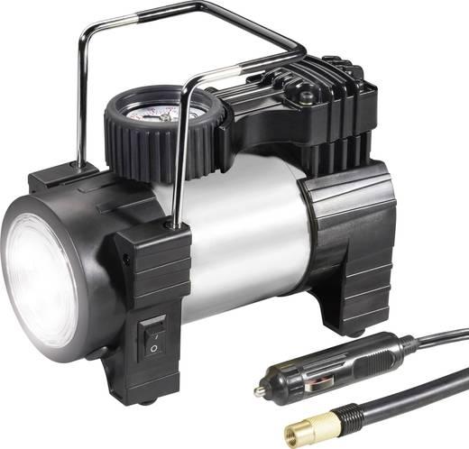 Kompressor 03:12:012 10 bar mit Arbeitslampe, Analoges Manometer, Überlastungsschutz, Aufbewahrungs-Box/-Tasche