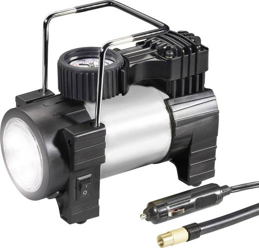 Kompressor 10 bar 03:12:012 mit Arbeitslampe, Analoges Manometer, Überlastungsschutz, Aufbewahrungs-Box/-Tasche