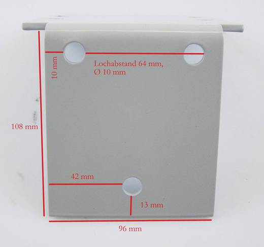 Halteplatte Berger & Schröter 30727 (B x H x T) 96 x 108 x 125 mm