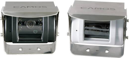 Kabel-Rückfahrkamera CM-42 Camos schwenkbar, Automatischer Weißabgleich, Blendenautomatik, integrierte Heizung, integriertes Mikrofon, IR-Zusatzlicht Aufbau Schwarz