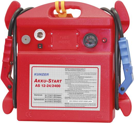 Kunzer Schnellstartsystem Manuelles Startgerät AS 12-24/2400 Starthilfestrom (12 V)=2400 A Starthilfestrom (24 V)=1200 A