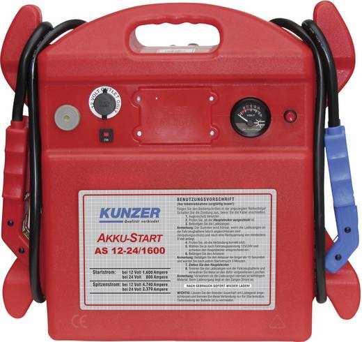Kunzer Schnellstartsystem AS 12-24/1600 Starthilfestrom (12 V)=1600 A Starthilfestrom (24 V)=800 A