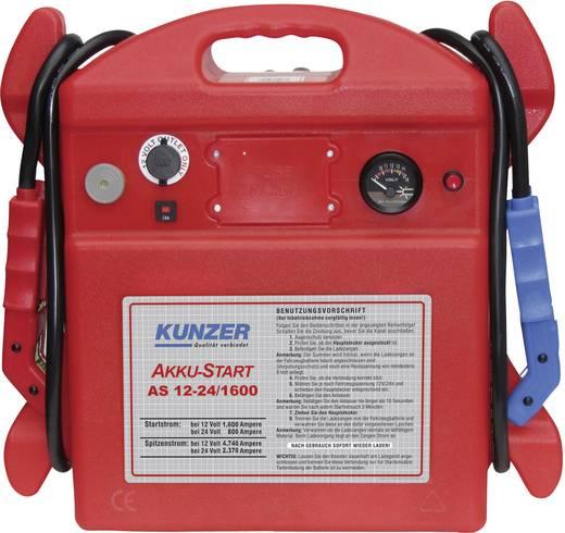 Kunzer Schnellstartsystem Manuelles Startgerät AS 12-24/1600 Starthilfestrom (12 V)=1600 A Starthilfestrom (24 V)=800 A