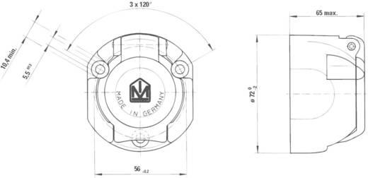 Anhänger-Steckdose [Steckdose 7polig - Stecker 7polig] SecoRüt 20155 Aluminium