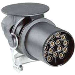 Zástrčka na zapojenie prívesu SecoRüt 40110, [15 pólová zásuvka - 15 pólová zástrčka], 24 V, plast ABS