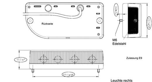 Glühlampe Anhänger-Rückleuchte Blinker, Bremslicht, Nebelschlussleuchte, Kennzeichenleuchte, Rückleuchte hinten, rechts