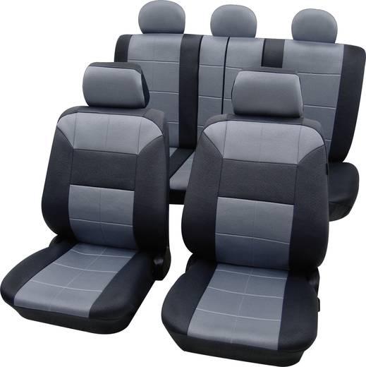 Sitzbezug 17teilig Petex 22574918 Dakar SAB 1 Vario Plus Polyester Grau, Schwarz