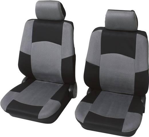 Sitzbezug 17teilig Petex 24271518 Vorder-Sitzbezug-Set Classic 6teilig Polyester Schwarz, Grau Fahrersitz, Beifahrersitz