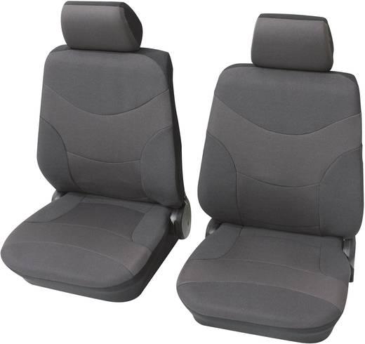 Sitzbezug 17teilig Petex 23491501 Set de housses de siège Vesuv, 6 pièces Polyester Grau Fahrersitz, Beifahrersitz, Rück
