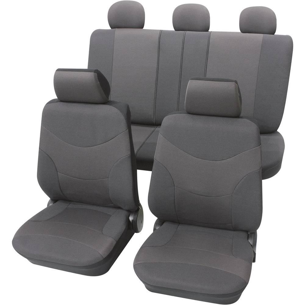 housse de si ge 17 pi ces petex 23474901 polyester gris si ge conducteur si ge passager si ge. Black Bedroom Furniture Sets. Home Design Ideas
